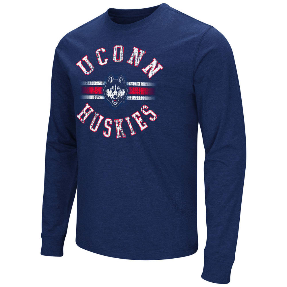 UCONN Men's Dual Blend Long-Sleeve Tee - NAVY
