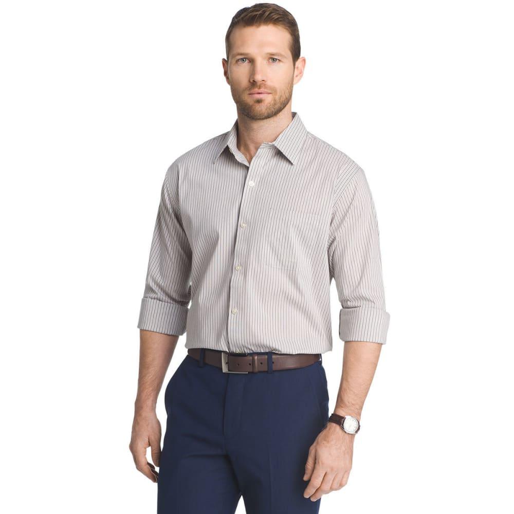VAN HEUSEN Men's Traveler Stretch Stripe Long-Sleeve Shirt - KHA KELP STRIPE-262