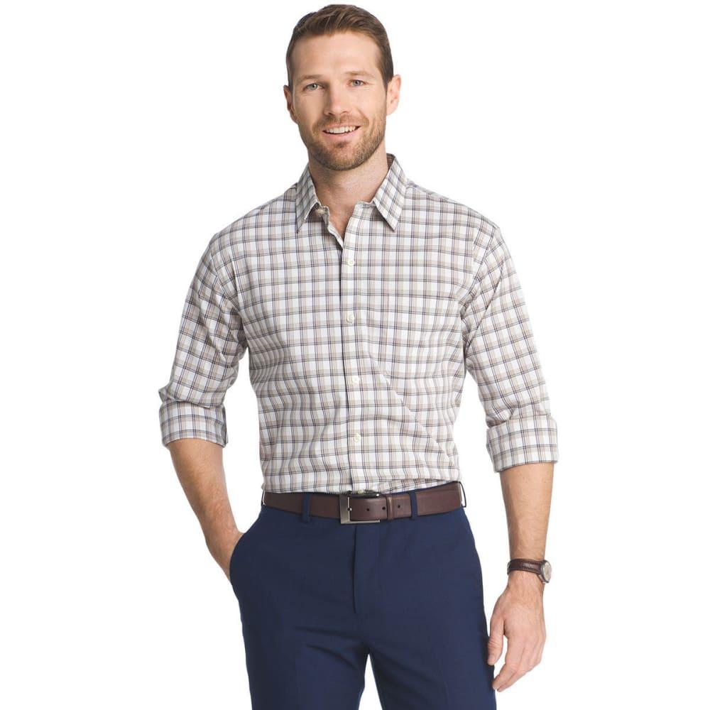 VAN HEUSEN Men's Traveler Stretch Plaid Long-Sleeve Shirt - KHA PLAID-267