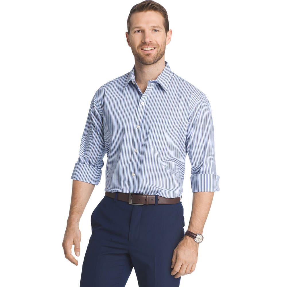 VAN HEUSEN Men's Traveler Striped Stretch Woven Shirt - BLUE SOLADITE-421