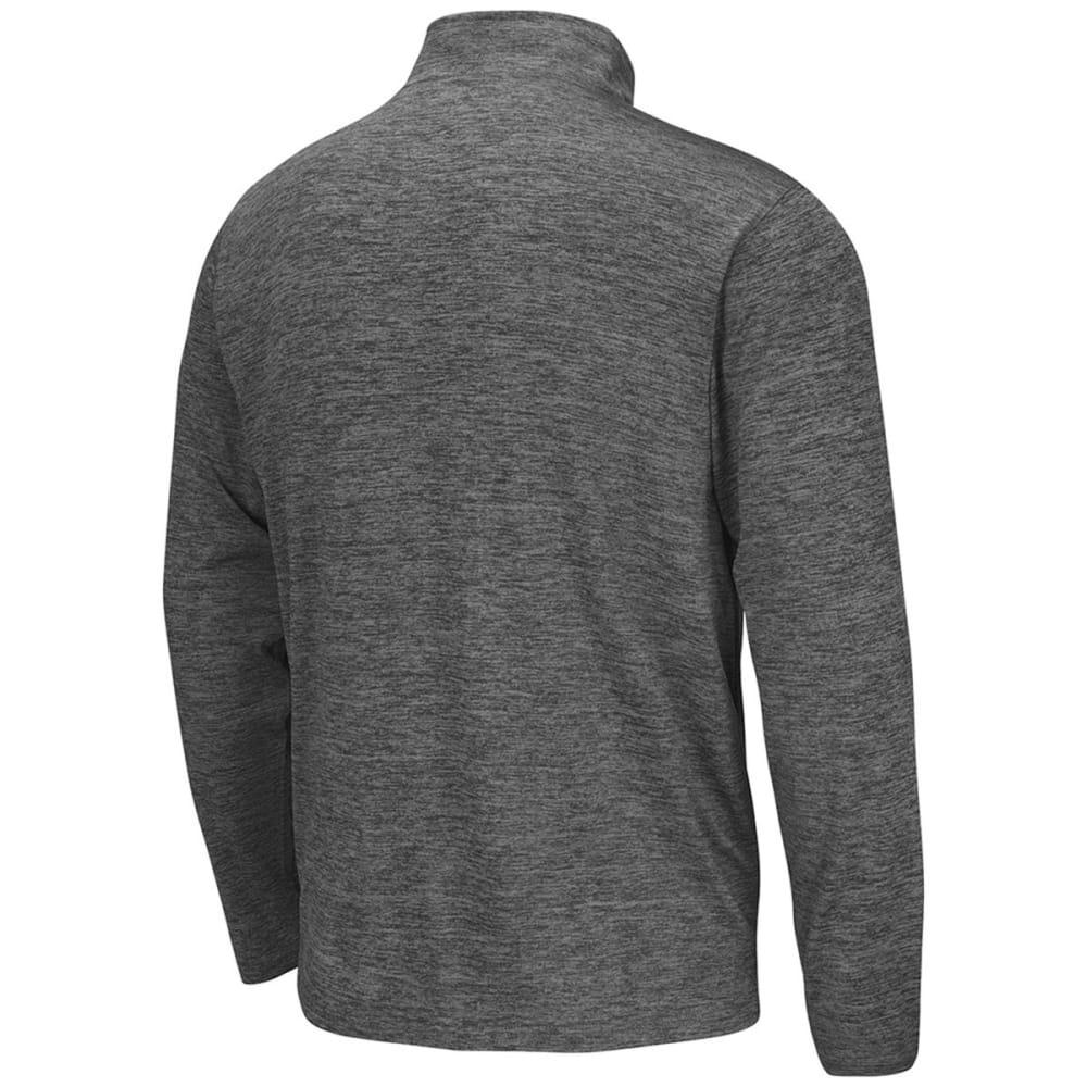 UCONN Men's ¼-Zip Poly Long-Sleeve Windshirt - HEATHER CHARCOAL