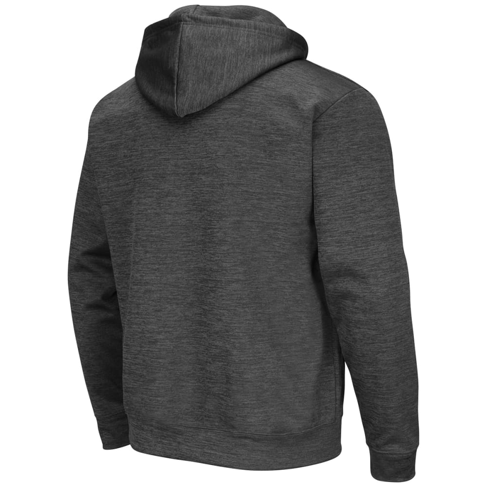 UCONN Men's Polyester Fleece Pullover Hoodie - HEATHER CHARCOAL