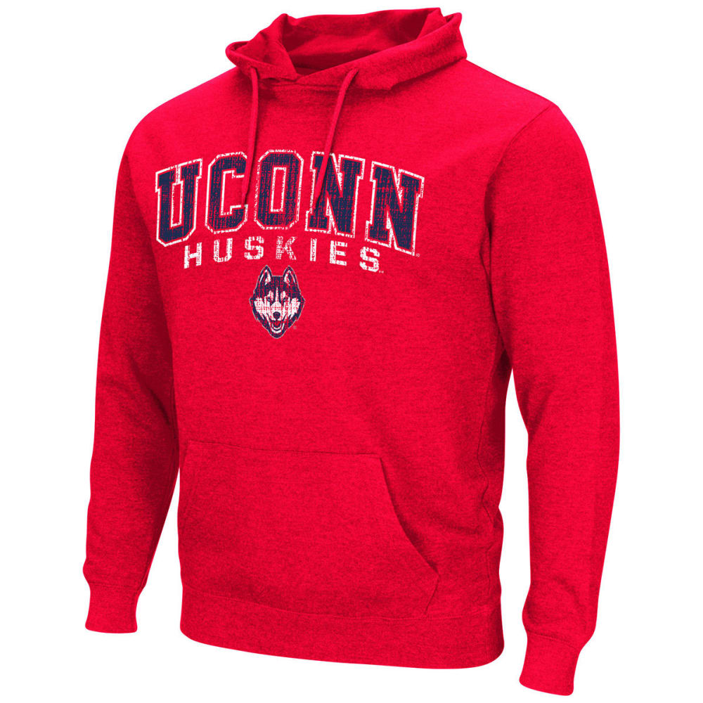 Uconn Men's Dual Blend Pullover Hoodie - Red, M