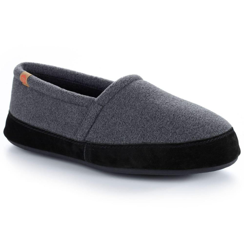 ACORN Men's Moc Slippers, Dark Charcoal - DARK CHARCOAL