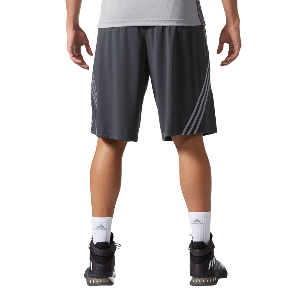 ADIDAS Men's Basic Basketball Shorts - DARK GREY/GREY
