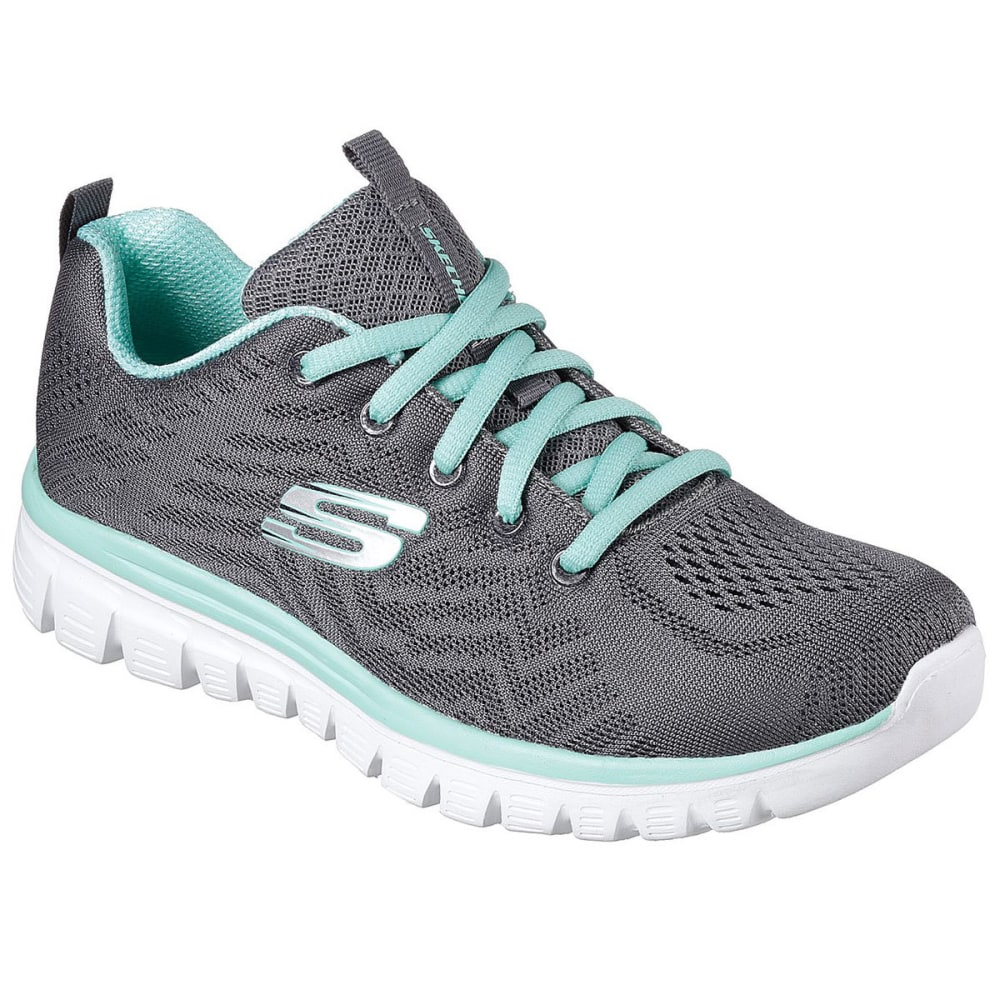 SKECHERS Women's Graceful - Get Connected Sneakers, Charcoal 6