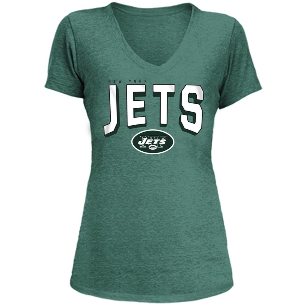 NEW YORK JETS Women's Tri-Blend V-Neck Short-Sleeve Tee - GREEN