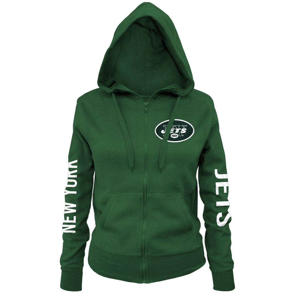 NEW YORK JETS Women's Brushed Full-Zip Hoodie - GREEN