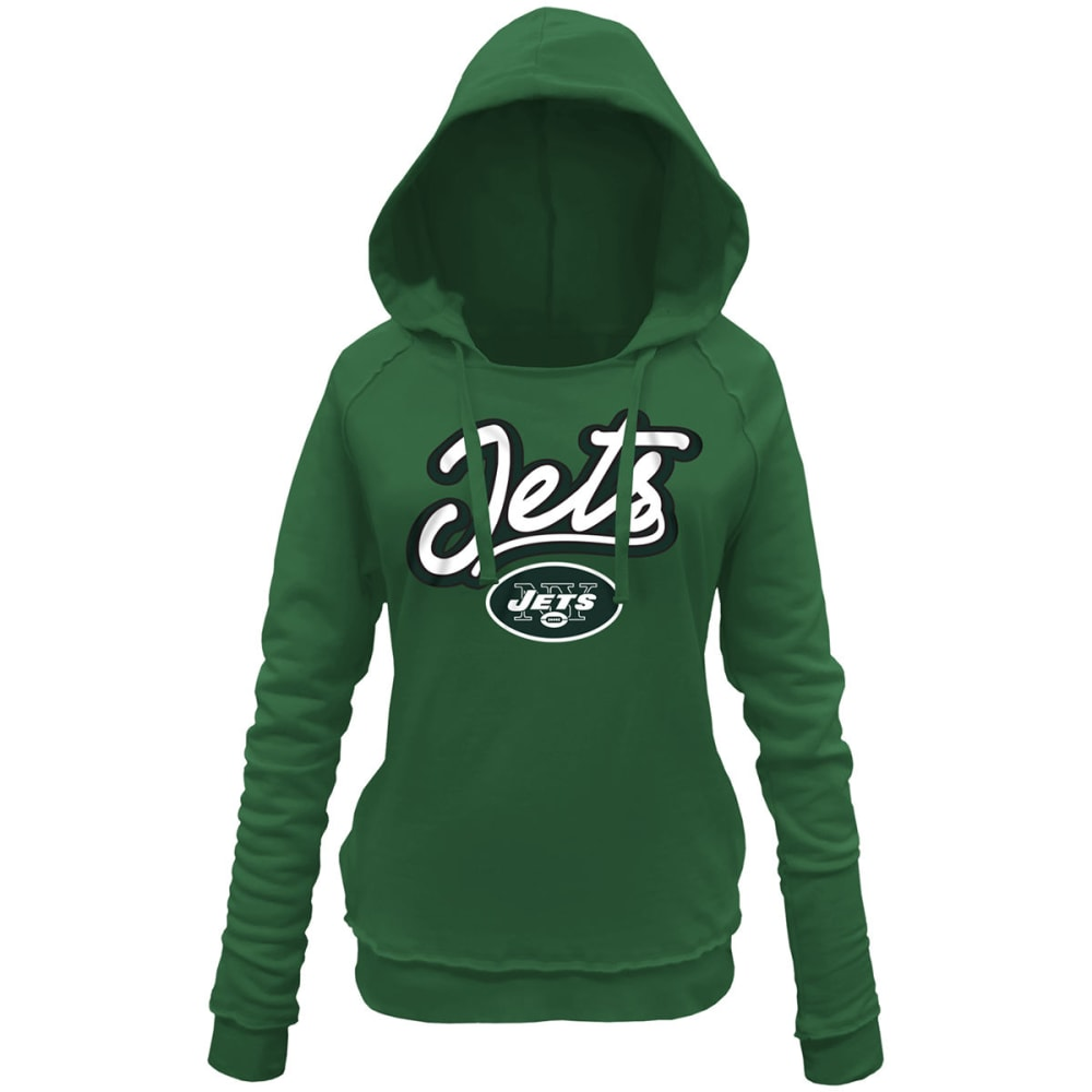 NEW YORK JETS Women's Brushed Pullover Fleece Hoodie - GREEN