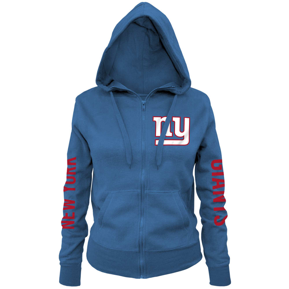 NEW YORK GIANTS Women's Brushed Full-Zip Hoodie - ROYAL BLUE
