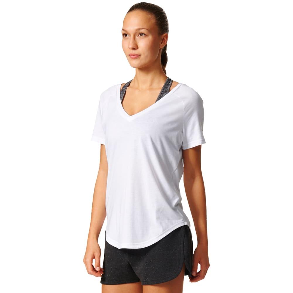 ADIDAS Women's Short Sleeve Imagine Tee - WHITE-B47336