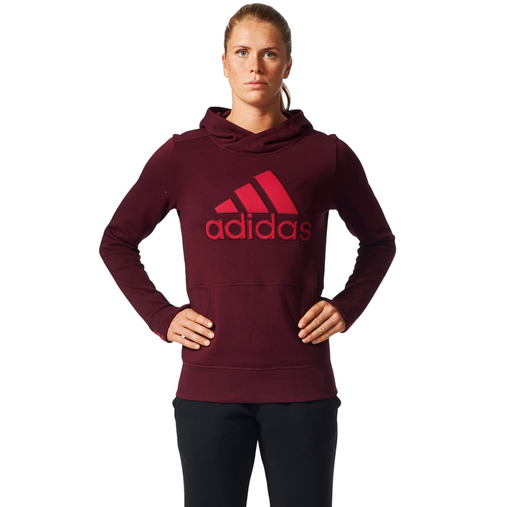 ADIDAS Women's Logo Pullover Hoodie - MAROON-BS4446