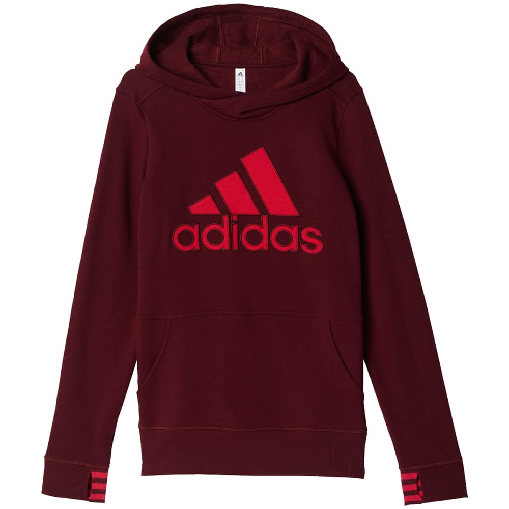 Adidas Women's Logo Pullover Hoodie - Red, M