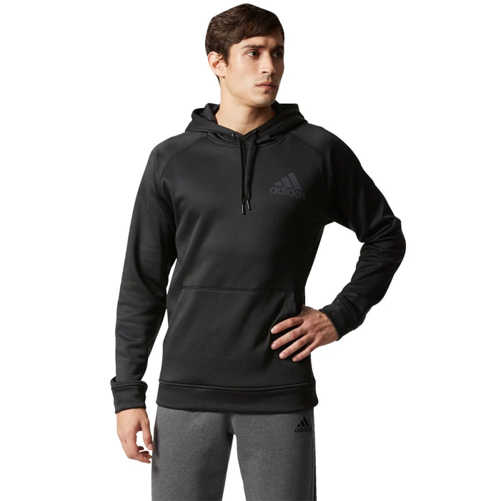 ADIDAS Men's Team Issue Raglan Pullover Hoodie - BLACK-BP6989