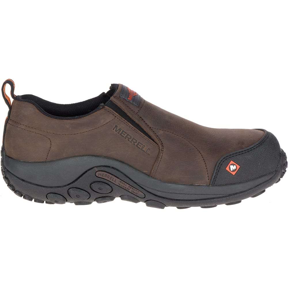 MERRELL WORK Men's Jungle Moc Comp Toe Work Shoes, Espresso - ESPRESSO BROWN