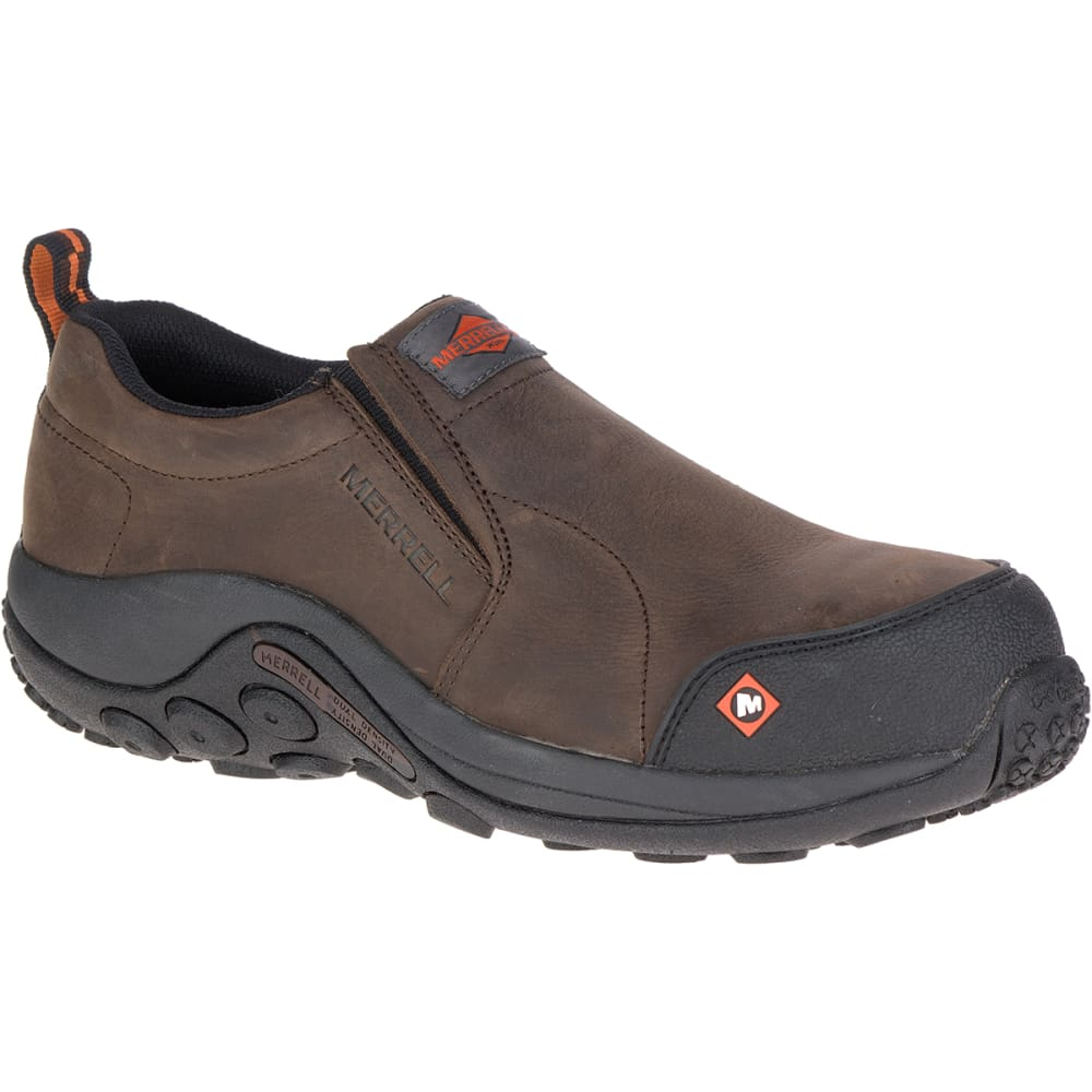 MERRELL WORK Men's Jungle Moc Comp Toe Work Shoes, Espresso - ESPRESSO BROWN