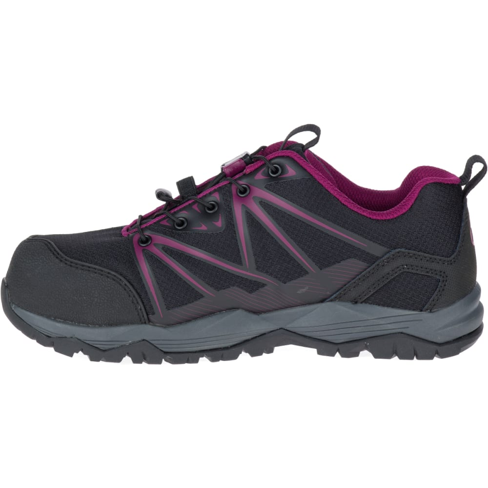 MERRELL Women's Full Bench Comp Toe Work Shoes - BLACK