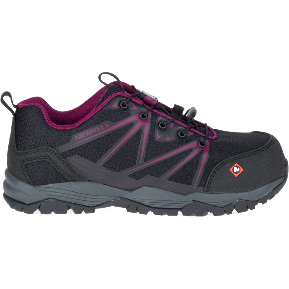 6a2739eaac2 MERRELL Women's Full Bench Comp Toe Work Shoes