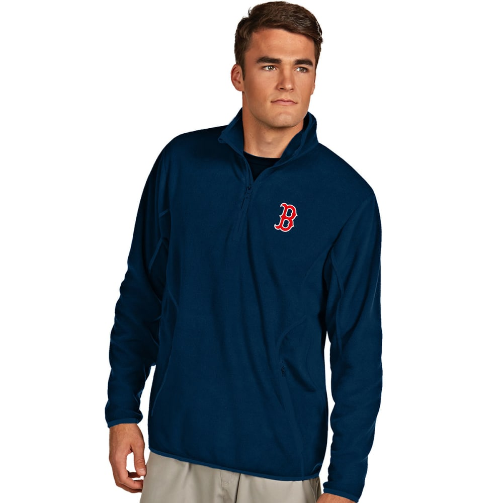 BOSTON RED SOX Men's Quarter Zip Ice Pullover - NAVY