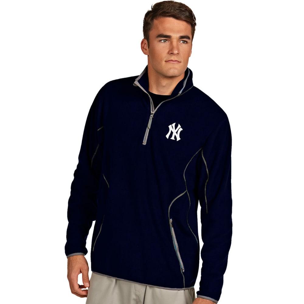 NEW YORK YANKEES Men's ¼-Zip Ice Pullover - NAVY