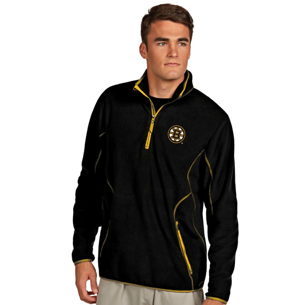 BOSTON BRUINS Men's ¼-Zip Ice Pullover - BLACK