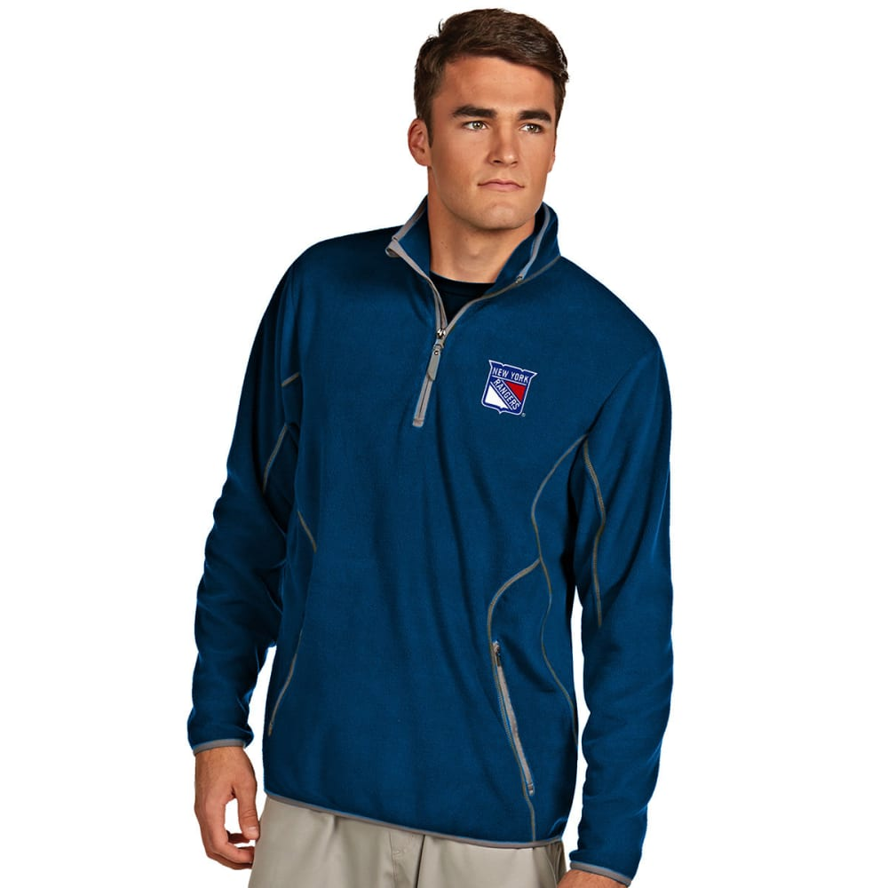 NEW YORK RANGERS Men's ¼-Zip Ice Pullover - DARK ROYAL