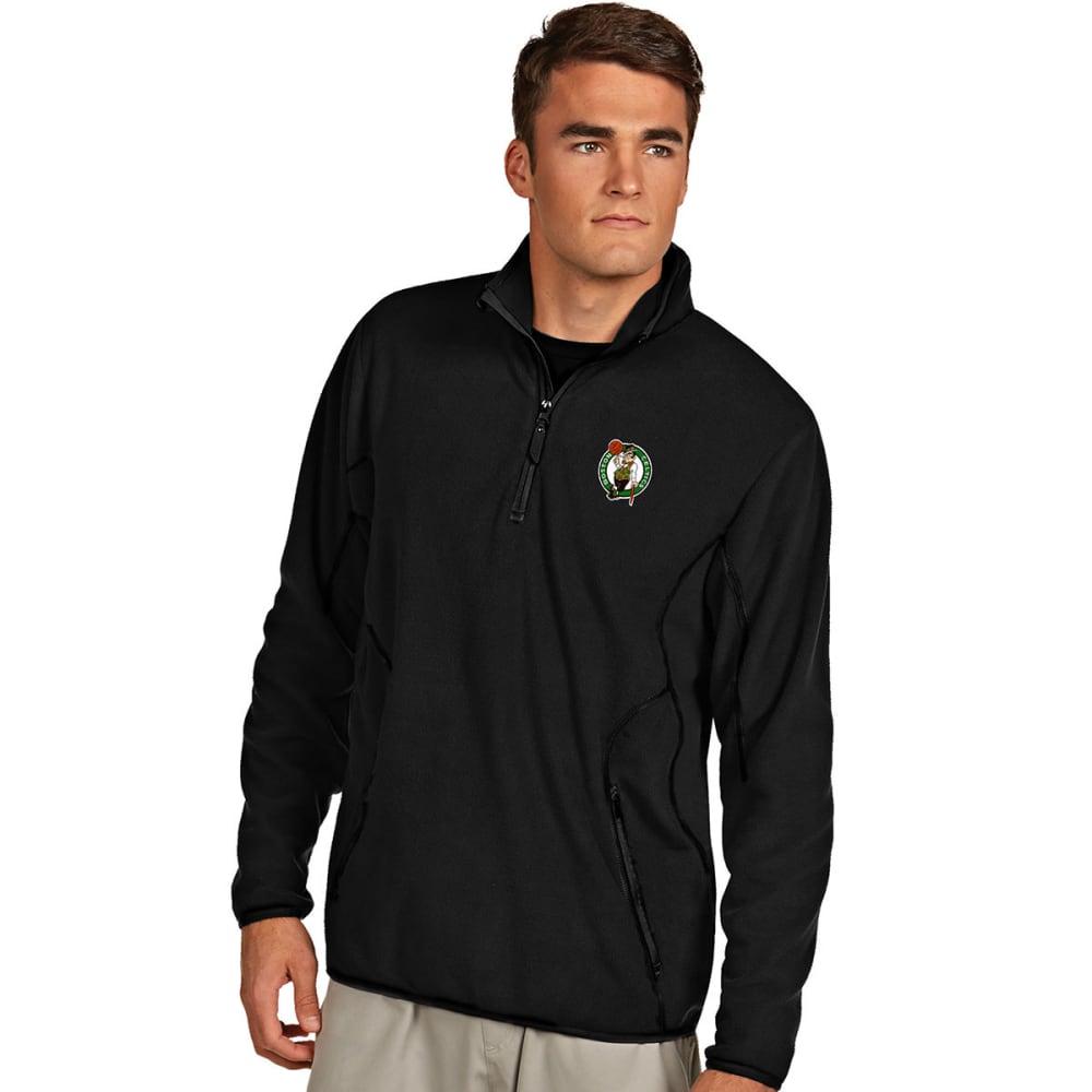 BOSTON CELTICS Men's ¼-Zip Ice Pullover - BLACK