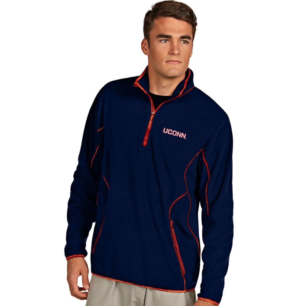 UCONN Men's Quarter Zip Ice Pullover - NAVY