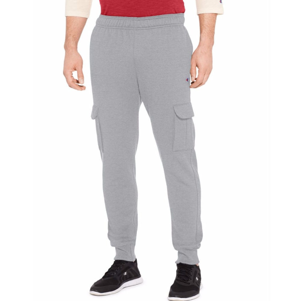 CHAMPION Men's Powerblend Fleece Cargo Jogger - OXFORD-806