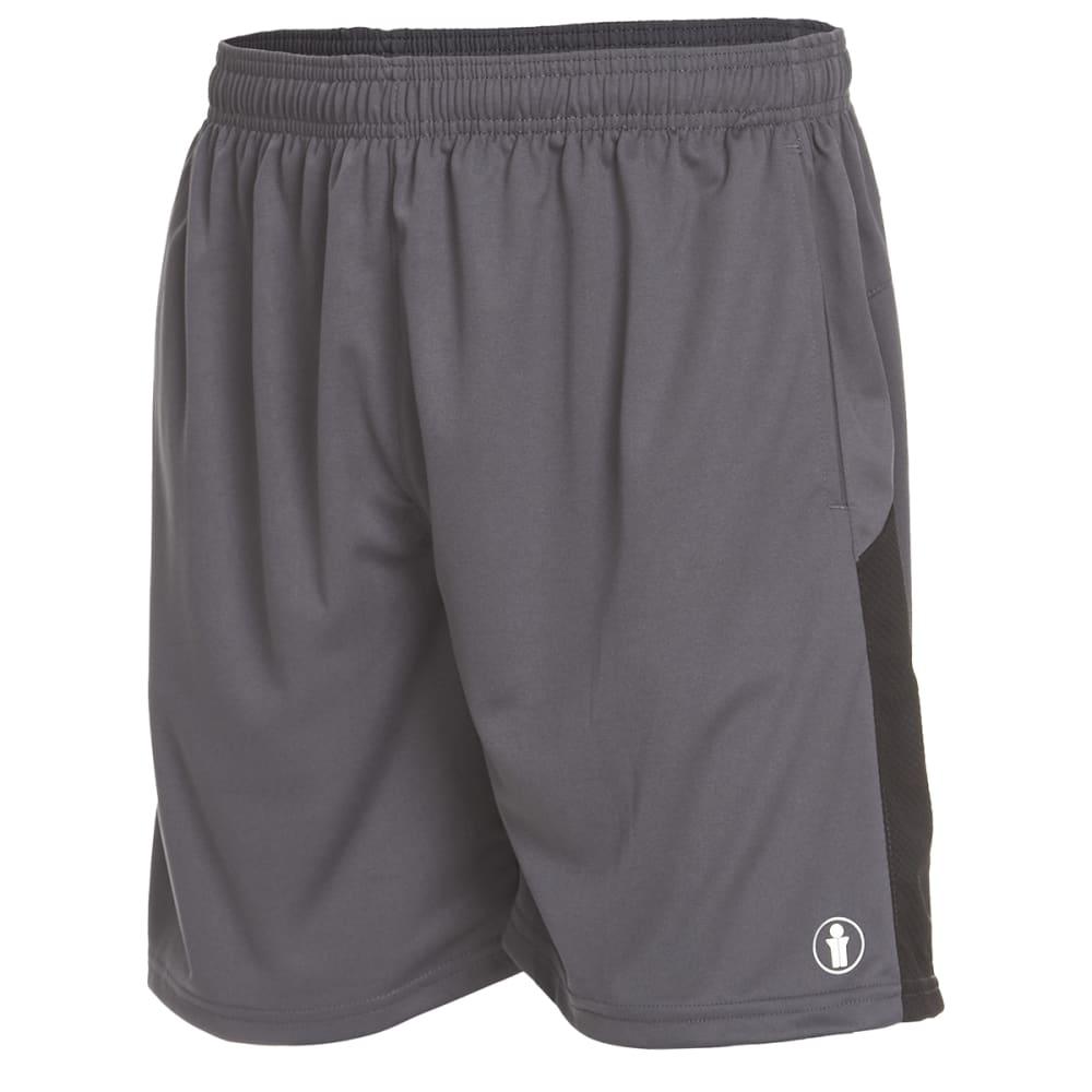 BOLLINGER Men's Training Knit Shorts - CHARCOAL/BLACK