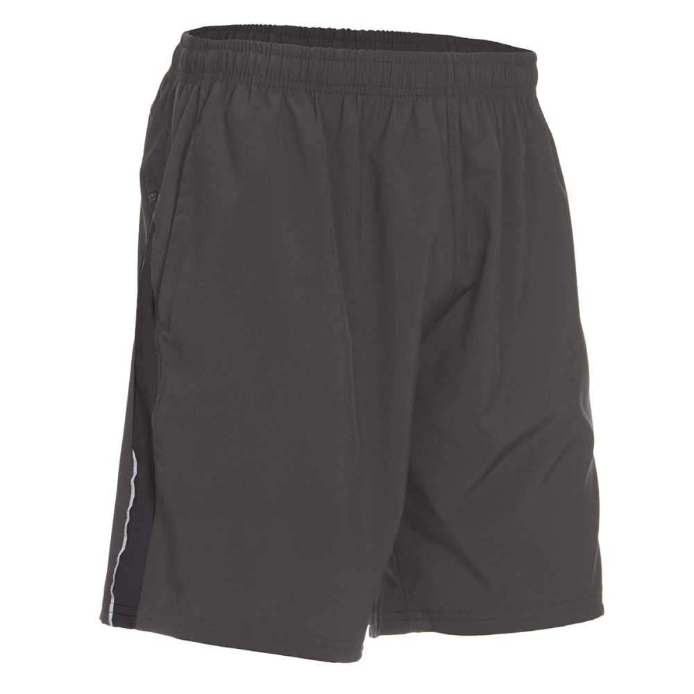 BOLLINGER Men's Woven Training Shorts with Zip Pocket - CHARCOAL/BLACK