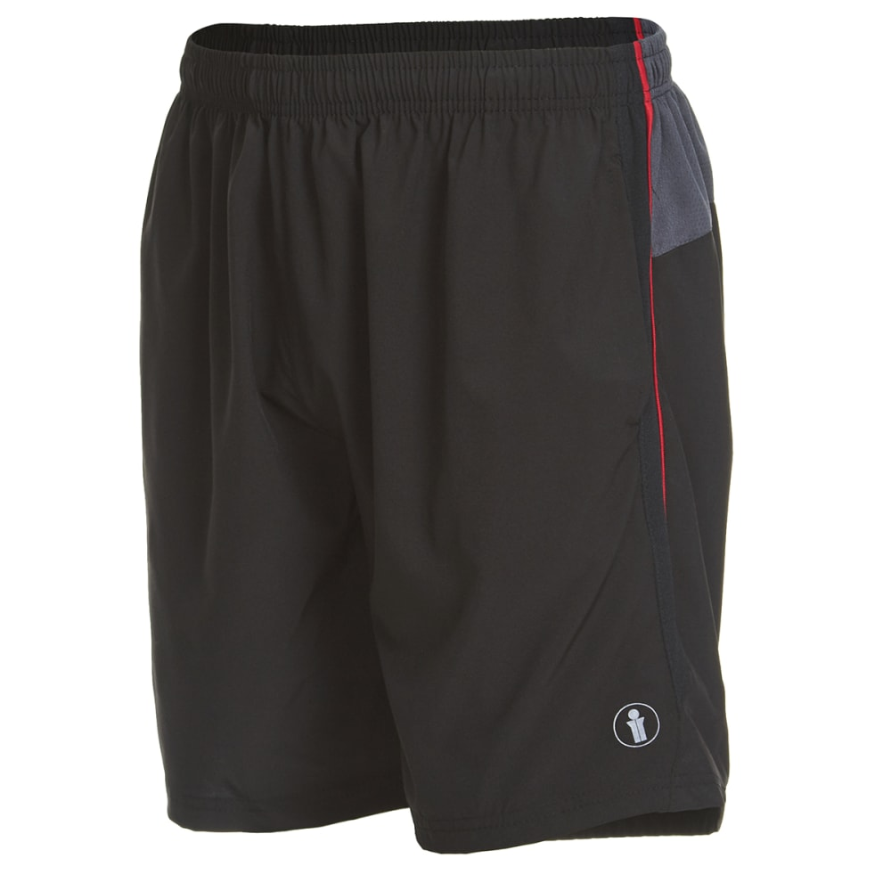 BOLLINGER Men's Woven Training Shorts with Zip Pocket - BLACK/RED