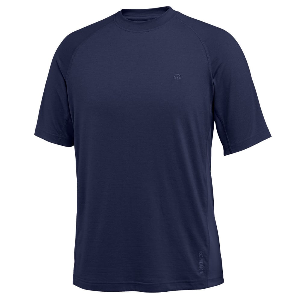WOLVERINE Men's Hybrid Poly Raglan Short-Sleeve Tee - 417 NAVY