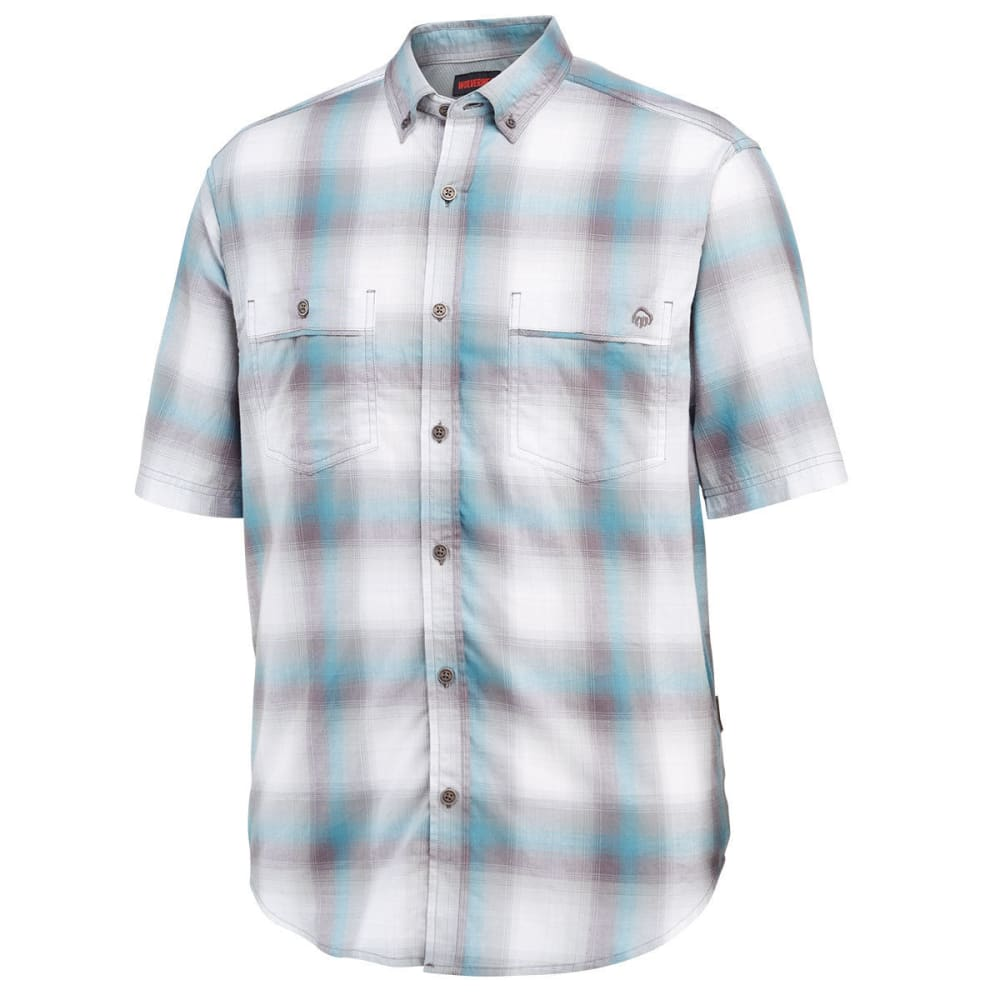 WOLVERINE Men's Springsport Plaid Short-Sleeve Shirt - 023 LEAD PLAID