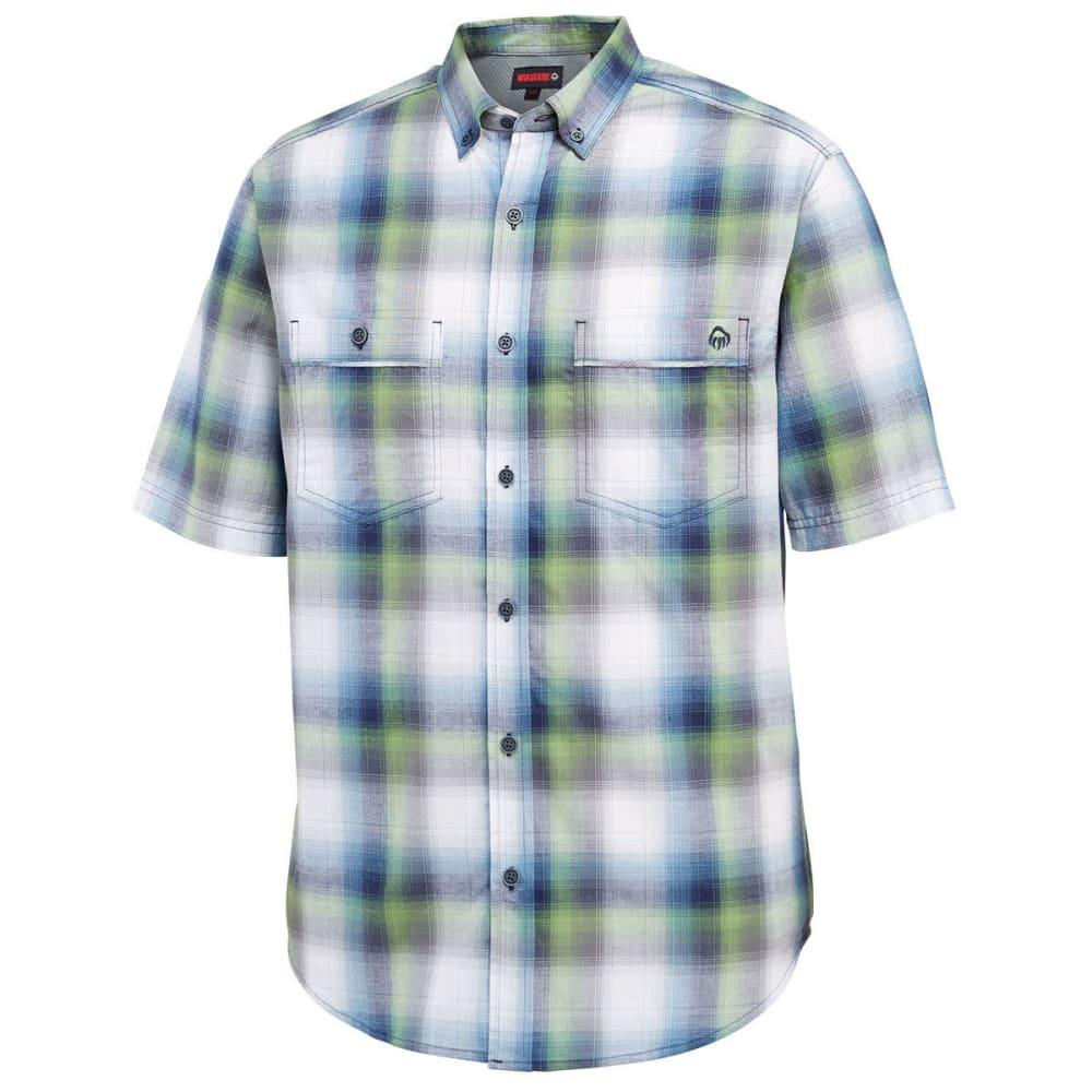 WOLVERINE Men's Springsport Plaid Short-Sleeve Shirt - 417 NAVY/GREEN