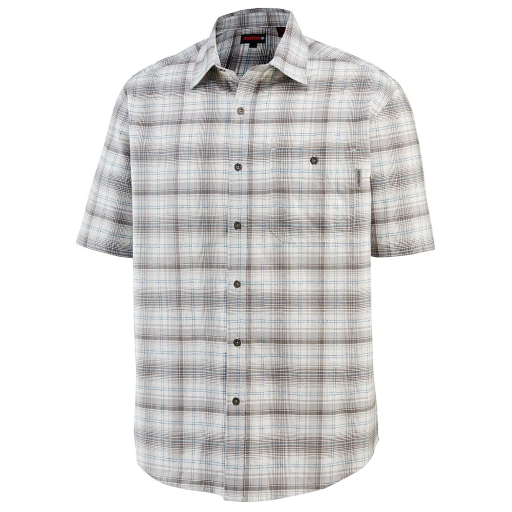 WOLVERINE Men's Boswick Short-Sleeve Shirt - 023 LEADVPLAID