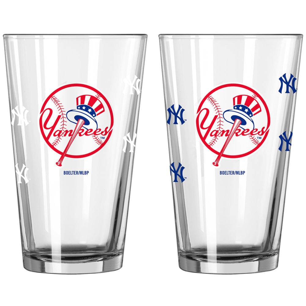 NEW YORK YANKEES 16 oz. MLB Alternate Color Change Pint Glass - NO COLOR