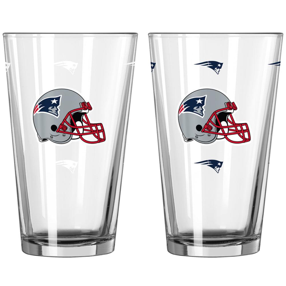 NEW ENGLAND PATRIOTS 16 oz. NFL Alternate Color Change Pint Glass - NO COLOR