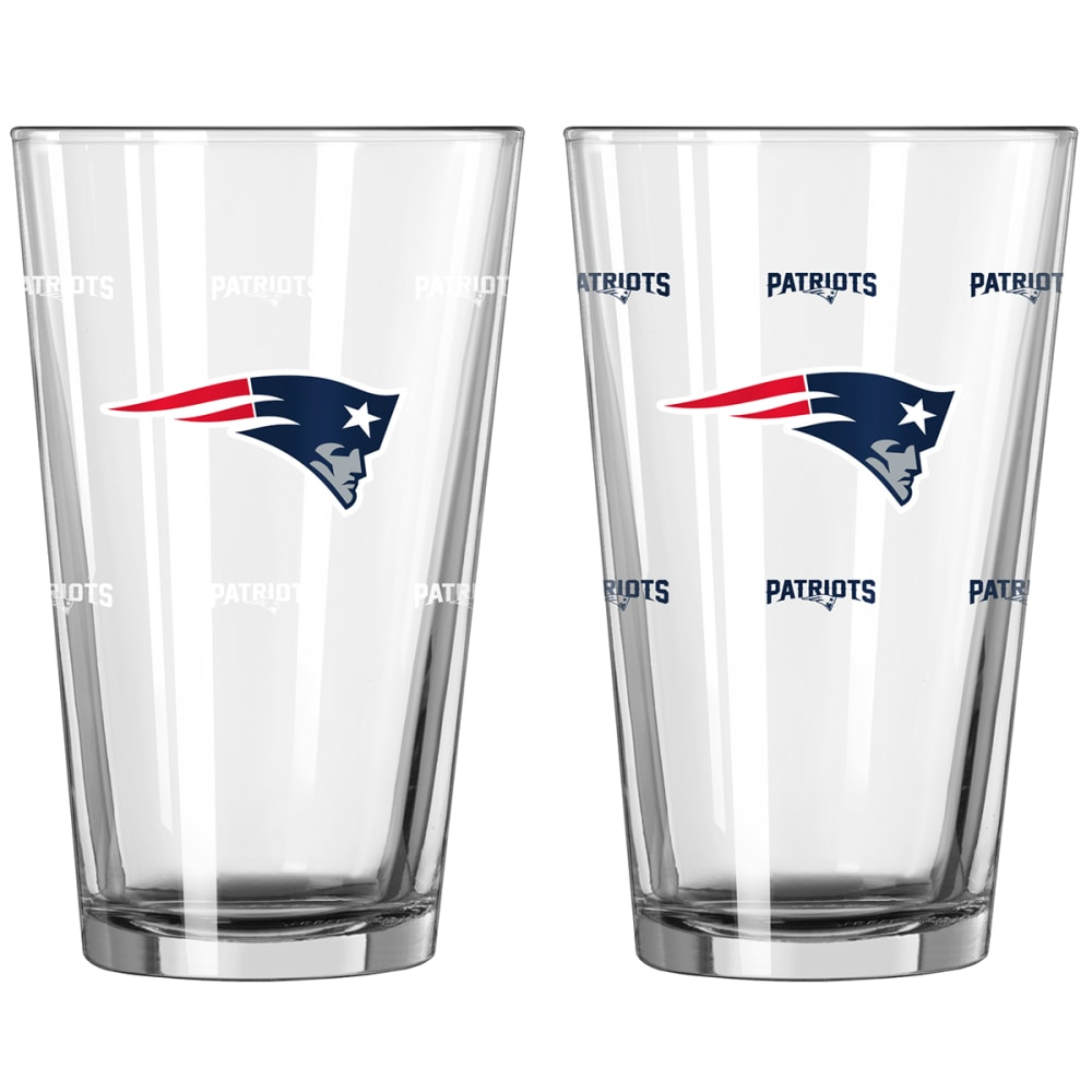 NEW ENGLAND PATRIOTS 16 oz. NFL Color Change Pint Glass - NO COLOR
