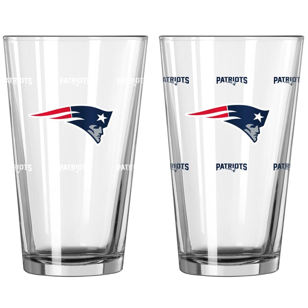 NEW ENGLAND PATRIOTS 16 oz. NFL Color Change Pint Glass - NO COLOR