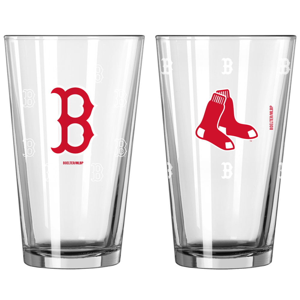 BOSTON RED SOX 16 oz. MLB Variety Color Change Pint Glasses, 2 Pack - NO COLOR