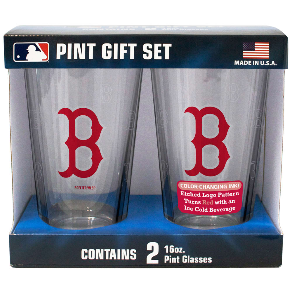 BOSTON RED SOX 16 oz. MLB Boxed Color Change Pint Glasses, 2 Pack - NO COLOR