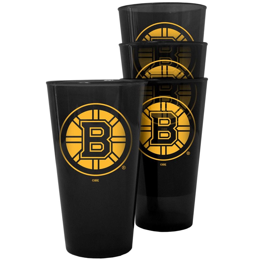 BOSTON BRUINS 16 oz. Plastic Pint Glasses, 4 Pack - NO COLOR