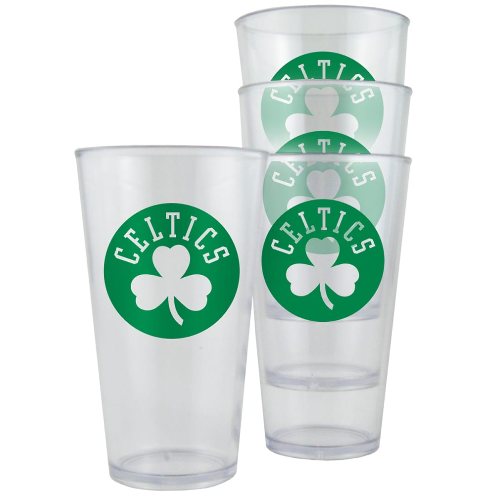 BOSTON CELTICS 16 oz. Plastic Pint Glasses, 4 Pack - NO COLOR