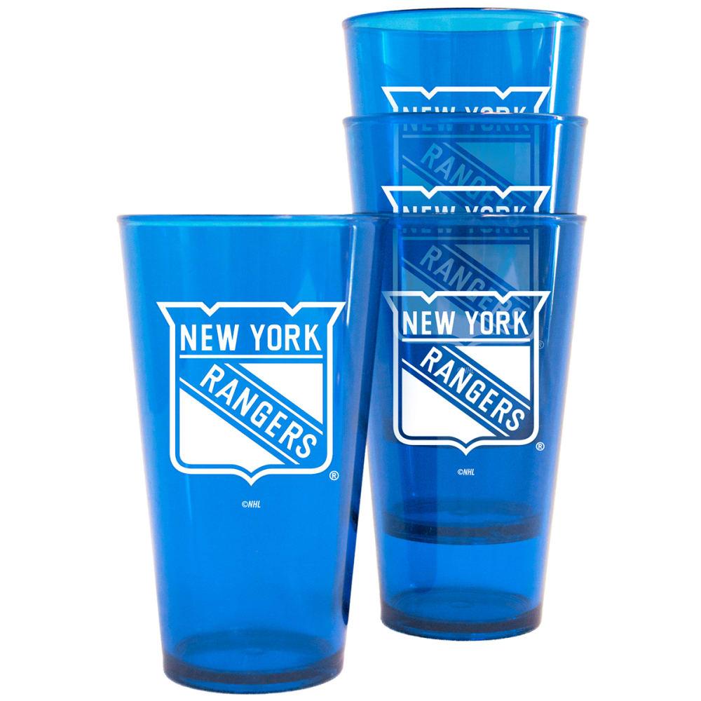 NEW YORK RANGERS 16 oz. Plastic Pint Glasses, 4 Pack - NO COLOR