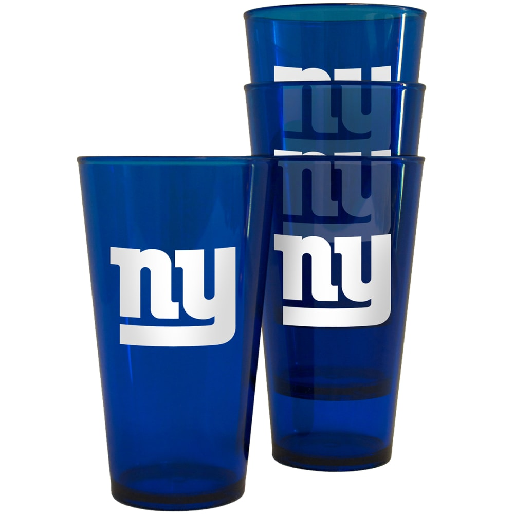 NEW YORK GIANTS 16 oz. Plastic Pint Glasses, 4 Pack - NO COLOR