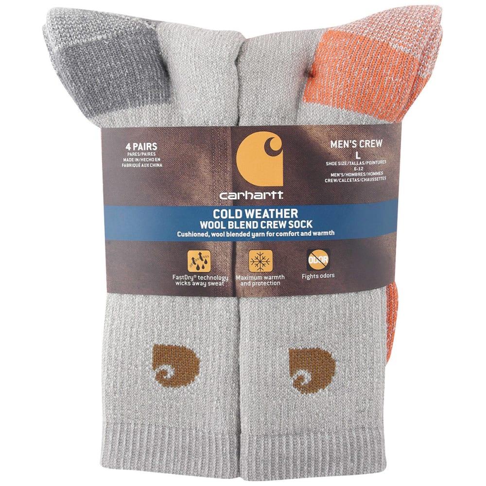 CARHARTT Men's Thermal Crew Socks, 4-Pack - GREY