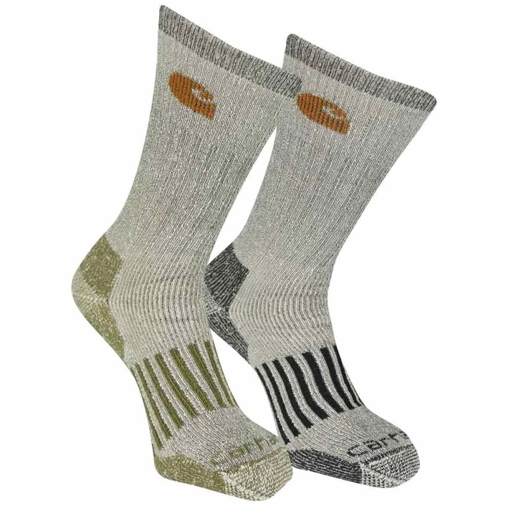CARHARTT Men's Thermal Crew Socks, 4-Pack - GR AST