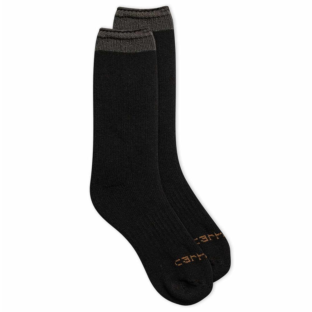 CARHARTT Men's Arctic Thermal Crew Socks, 2-Pack - BLACK