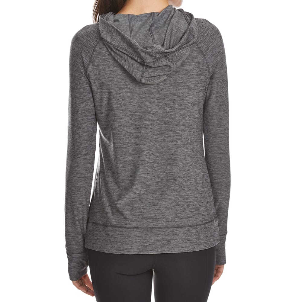 LAYER 8 Women's Poly Span Midweight Active Hoodie - CHARCOAL GREY